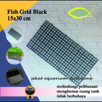 Sekat Aquarium Plastik Grid Divider Holder Tray Egg Crate Black