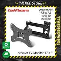 TAFFWARE Bracket TV Monitor Lengan Arm Telescopic Vesa Mount 17 - 42
