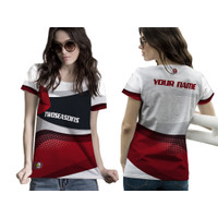 Baju Kaos Tshirt Jersey Wanita Olahraga Futsal Badminton Lari Sepeda04 - Lengan Pendek, S