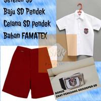 Seragam Sekolah SD Merah Putih Celana Pendek Baju Pendek
