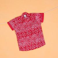 Pop Kidswear Ismaya Batik Shirt - Kemeja anak batik 100% katun merah