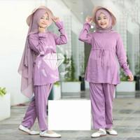 MK - Set Dayana / baju muslim anak perempuan usia 9 - 10 tahun