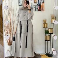 Baju Gamis Wanita Terbaru Midi dress Syari Muslim Termurah