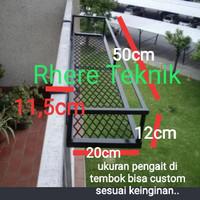 rak pot bunga gantungan balkon rak pot pagar