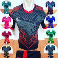 Baju Futsal Jersey Volly Kaos Bola Setelan Olahraga Voli Mizuno 26 - Tosca, M