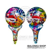 Balon Foil Tongkat Super Wings / Balon Pentung / Balon Super Wings