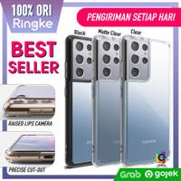 Case Samsung Galaxy S21 Ultra S21 Plus Ringke Fusion Clear Soft Casing - S21, Smoke Black