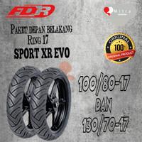 BAN LUAR FDR PAKET 100/80-17 DAN 130/70-17 SPORT XR EVO TUBELESS