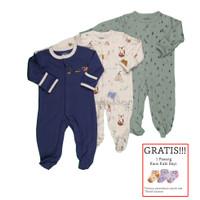 Baju Tidur Bayi Sleepsuit 3 in 1 Mamas Papas Premium Motif Fox