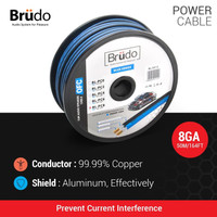 Brudo Power Cable BL-PC8 - 8 AWG (1 Meter) - Germany Technology