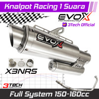 Knalpot Racing Evox X3 NRS Series untuk Motor 150-160cc Full system