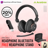 Avantree DG59M Wireless Gaming Headphones Set with Detachable Boom Mic