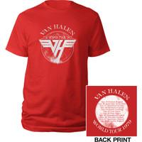 VAN HALEN 1979 Tour Kaos Band Glam Heavy Metal Original Licensed USA