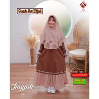 Setelan Baju Muslim Anak Perempuan Set Hijab Gamis Inayah 8 9 10 Tahun