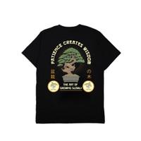 Jackhammer Bonsai Tee Black Kaos Pria Cotton Combed 24'S