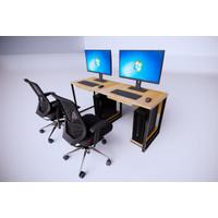 Meja PC kantor untuk 2 orang