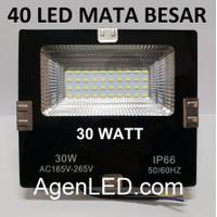 LED SOROT 30W Flood Light Lampu FLOODLIGHT tembak 30 w watt outdoor FS