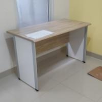 Meja kantor Powell UK.120x60x75 cm maple white - Rizda Furniture