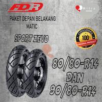 BAN LUAR FDR PAKET MATIC 80/80-14 DAN 90/80-14 SPORT ZEVO TUBELESS