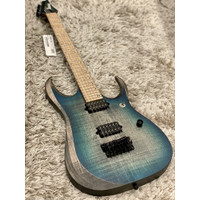 Ibanez Axion Label RGD61AL-SSB Guitar In Stained Sapphire Blue Burst