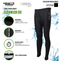 Clear Water Celana Renang Diving Panjang Polos MS009 - Hitam, L
