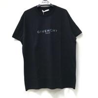 G I V E N C H Y Black REF GIVENCHY Paris T-shirt 100% Original