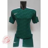 Baju futsal printing Kaos bola printing Setelan bola murah - Hijau-putih, M