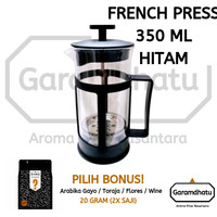 GARAMDHATU 350ml French Press / Coffee & Tea Press - alat kopi dan teh - packing biasa, Robusta Wine