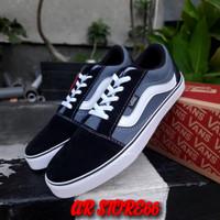 Sepatu VANS Oldskool Black Gray White (Bisa Cod)