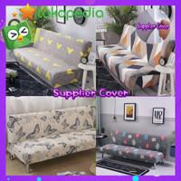 SARUNG SOFA BED motif cantik - COVER kursi SOFA BED bahan elastis