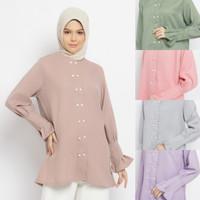 FATINAH blouse busui friendly baju atasan muslim wanita - Merah Muda