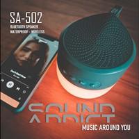 Speaker Lampu SOUNDADDICT SA - 502 LED Bluetooth Speaker - Black Grey