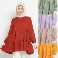 AYDUHA blouse busui friendly baju atasan muslim wanita - Merah
