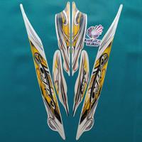 Stiker Striping motor yamaha mio sporty 2010 putih