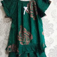 Setelan anak perempuan harian motiv batik baju santai hari-hari RANDOM