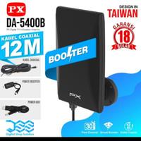 Antena tv luar / antena outdor / px da5400 free kabel 12 m - Hitam