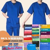 Baju ok / seragam perawat / baju jaga / seragam jaga LENGAN PENDEK