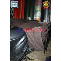 Tas motor / saddle bag bahan kanvas KSA CK - Cokelat