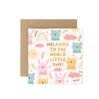 Kartu Ucapan Baby / New Born Card Harvest Baby Wishes - Welcome Girl