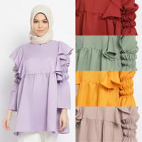 FAZILAH blouse busui friendly baju atasan muslim wanita - Cokelat