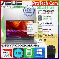 ASUS M509BA - AMD A4-9125 4GB 256GB SSD RADEON R3 15.6 OHS W10 RESMI