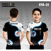 Jersey e sport anak free fire baju freefire kaos esport gamer ff - 0