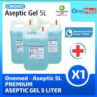 Aseptic Gel OneMed 5 Liter (Refill / Isi Ulang) Hand Sanitizer Gel 5L