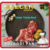 MOEGEN Bulgogi Pan ALL NEW Grill Barbeque BBQ 32cm Tanpa Tutup Kaca