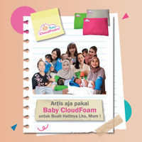 Bantal Bayi Anti Peyang BabyCloudfoam Kulit Kacang Hijau Umr 0-9 Bulan