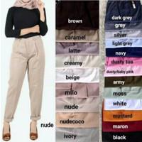 PROMO Celana Baggy pants Wanita / Celana Kerja wanita / Celana Formal - Putih, M