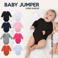 Baju Jumper Bayi Lengan Panjang Polos Carter Lover Usia 0-12 Bulan SNI