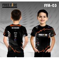 Jersey e sport anak free fire baju freefire rog kaos gamer ff