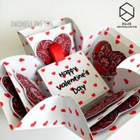 Kado Hadiah Pacar Valentine Pop Up Explosion Box Doodle