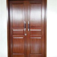 pintu kayu mahoni finish duco